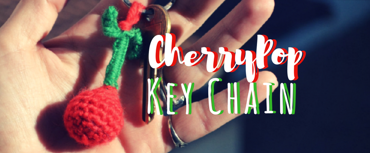 The Cherry Pop Key Chain Crochet Pattern