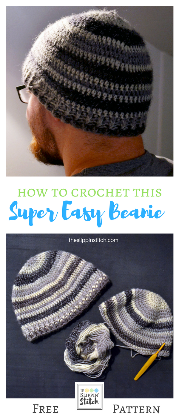 how to crochet a beanie - free adult crochet pattern
