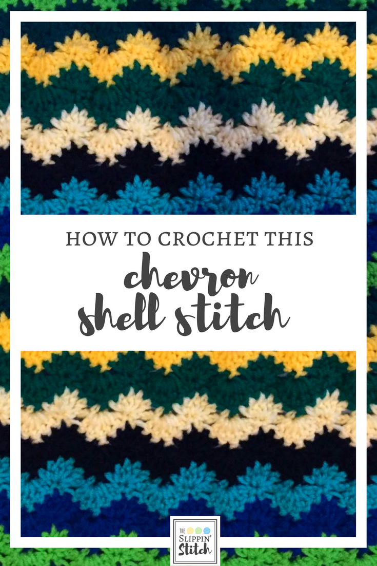 how to crochet chevron shell stitch
