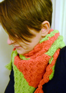 Unique Corner to Corner Scarf - The Watermelon Burst - Free Pattern - the Slippin' Stitch