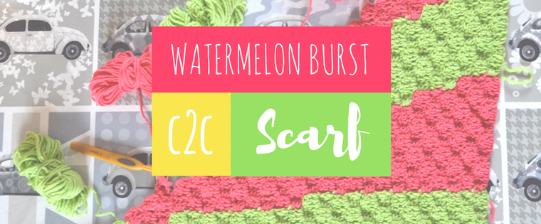 The Watermelon Burst Scarf – Corner to Corner Crochet Pattern
