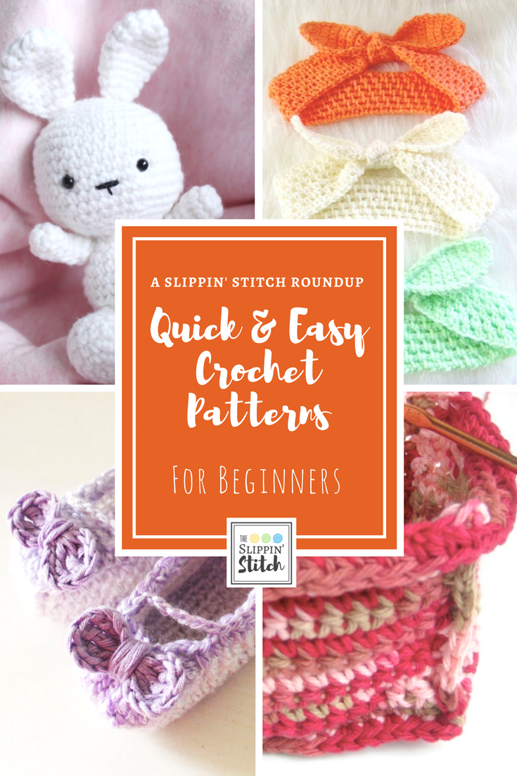 Quick and Easy Crochet Patterns for Beginners - A Slippin' Stitch Roundup