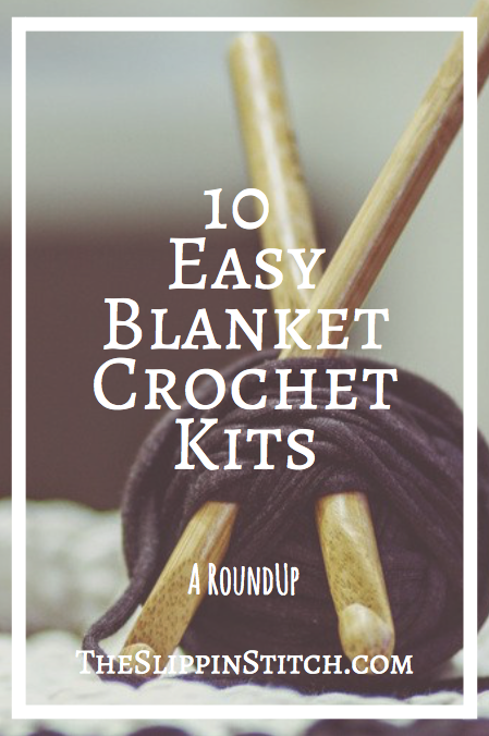 10 Best Easy Blanket Crochet Kits from Craftsy #crochet #crochetkit #crocheting