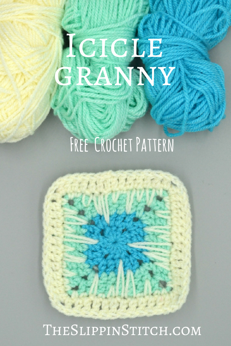 Free Crochet Pattern - The Icicle Granny Square - #crochet #crochetpattern #freepattern #grannysquare